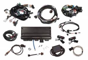 Holley EFI Injection Kits - Holley Terminator X EFI Powertrain Management System - Holley - Holley Terminator X Max For Ford Modular Motor 2V for Stock Coils and EV1 Clips with Transmission Control