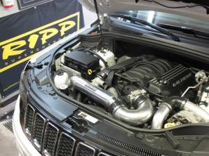 RIPP Superchargers - Dodge/Jeep Truck RIPP Superchargers - Ripp Superchargers - Jeep Grand Cherokee 6.4L SRT 2015 Intercooled V3 Si RIPP Supercharger Tuner Kit - Silver
