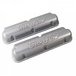 Trick Flow Ford Mustang 302 / 351W Cast Aluminum Valve Covers - Silver