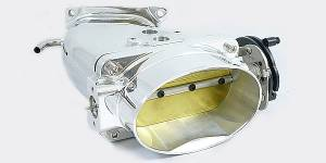 Accufab Throttle Bodies - Accufab - Mustang Cobra, Bullitt & Mach 1 - Accufab Racing - Accufab 03-04 Mustang Cobra Oval Throttle Body & POLISHED Power Inlet