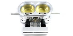 "Accufab Throttle Bodies - Accufab - 2-Barrel Throttle Bodies - Accufab Racing - Accufab 2-Barrel Dual 2.75"" Blade Mountain Motor Throttle Body w/ Fuel Rail"