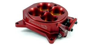 Accufab Throttle Bodies - Accufab - 4-Barrel Throttle Bodies - Accufab Racing - Accufab 4-Barrel 4150 Red Throttle Body