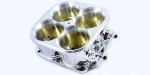 Accufab Throttle Bodies - Accufab - 4-Barrel Throttle Bodies - Accufab Racing - Accufab 4-Barrel 8500 Polished Competition Throttle Body