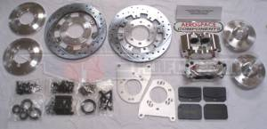 Brakes - Aerospace Components Front Street Disc Brakes - Aerospace Components - Aerospace Ford Mustang Front Pro Street Disc Brakes 1994-2004 Drilled, Slotted, Plated