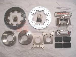 Brakes - Aerospace Components Rear Street Disc Brakes - Aerospace Components - Aerospace Small GM 10/12 Bolt Rear Pro Street Disc Brakes Drilled, Slotted, Plated