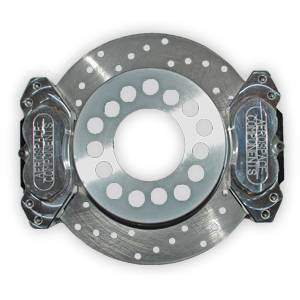 Brakes - Aerospace Components Rear Drag Disc Brakes - Aerospace Components - Aerospace Ford 8.8 Rear Drag Disc Brakes 5 Lug w/ C-Clip Elims Dual Caliper