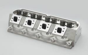 "TFS Cylinder Heads - Small Block Ford - High Port Race Cylinder Heads for Small Block Ford - Trickflow - 70cc CNC-ported combustion chambers, titanium retainers, and 1.550"" valve springs, for perimeter bolt valve covers"