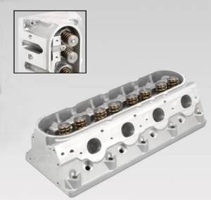 "TFS Cylinder Heads - Small Block Chevy - GenX Street/Strip Cylinder Heads for GM LSX - Trickflow - 64cc CNC-ported combustion chambers for LS1, 1.300"" valve springs, for centerbolt valve covers"