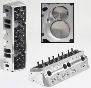 "TFS Cylinder Heads - Small Block Chevy - Super 23 Race Cylinder Heads for Small Block Chevrolet - Trickflow - 67cc combustion chambers and 1.550"" valve springs, for perimeter bolt valve covers"
