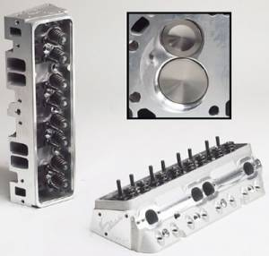 """TFS Cylinder Heads - Small Block Chevy - Super 23 Street/Strip Cylinder Heads for Small Block Chevrolet - Trickflow - 62cc As-Cast combustion chambers, 1.250"""" valve springs and center bolt valve covers"""