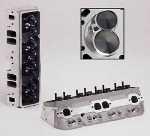 """TFS Cylinder Heads - Small Block Chevy - Super 23 Street/Strip Cylinder Heads for Small Block Chevrolet - Trickflow - 64cc CNC-Profiled combustion chambers, 1.250"""" valve springs, and perimeter bolt valve covers"""