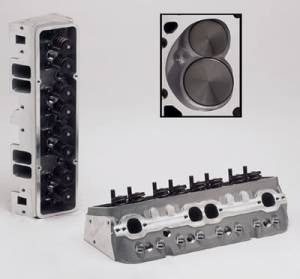 "TFS Cylinder Heads - Small Block Chevy - Super 23 Race Cylinder Heads for Small Block Chevrolet - Trickflow - 67cc combustion chambers and 1.530"" valve springs, for perimeter bolt valve covers"