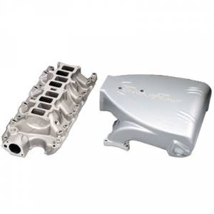 Air Induction - Trick Flow Specialties Intake Manifolds - Trickflow - Trick Flow StreetBurner Intake Manifolds for Ford 5.0L Silver