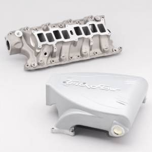Air Induction - Trick Flow Specialties Intake Manifolds - Trickflow - Trick Flow Track Heat Intake Manifolds for Ford 5.0L Silver