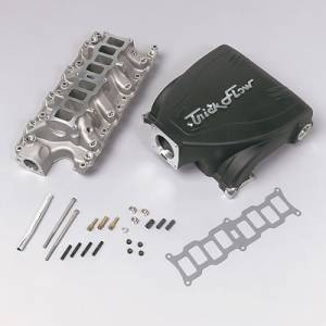 Air Induction - Trick Flow Specialties Intake Manifolds - Trickflow - Trick Flow Track Heat Intake Manifolds for Ford 5.0L Black