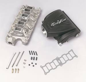 Air Induction - Trick Flow Specialties Intake Manifolds - Trickflow - Trick Flow R-Series Intake Manifold for Ford 5.0L Black 90mm
