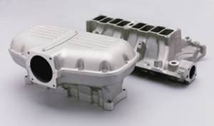 Air Induction - Trick Flow Specialties Intake Manifolds - Trickflow - Trick Flow Box-R-Series Intake Manifold Ford 351w Silver
