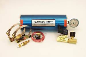 Oil System - Canton Accusump Oil Accumulators - Canton Racing Products - Canton 2 Quart Marine Accusump Kit