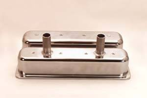 Valve Covers - Canton Racing Products - Canton Chevy SBC Tall Centerbolt Aluminum Valve Covers Circle Track