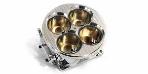 Accufab Throttle Bodies - Accufab - 4-Barrel Throttle Bodies - Accufab Racing - Accufab 4-Barrel 6500 Short Polished Throttle Body